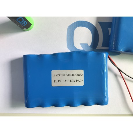 11.1v 3s2p 18650 battery pack with pcb panasonic NCR18650B