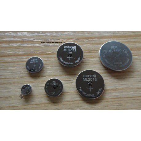 FDK ML1220 15mAh 3V rechargeable button battery cell
