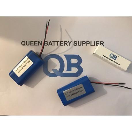 18650 panasonic ncr18650bm 3200mah 2s1p 7.2v battery pack with pcb (3-6A)