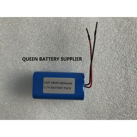 1S2P 18650 panasonic 3.6V 6800mAh battery pack with PCB(5-10A)