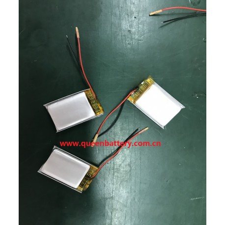 402030 li-polymer/li-po battery pack 1s1p with pcb(1-3A) with lead wires