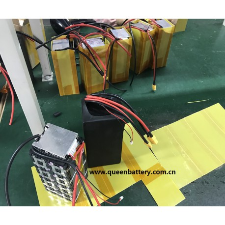 14s2p 52V 51.8V  18650 SONY VTC6 rechargeable battery pack with bms (30-60A) with XT60 XT90