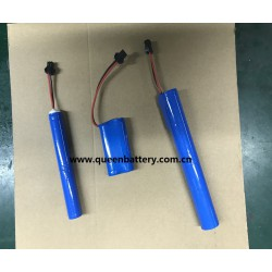 2S1P QB18650 7.4V 7.2V 2600mAh battery pack with PCB (3-8A) with SM 2P connector for electric curtain