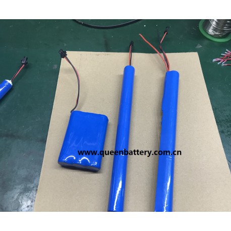 3S1P 11.1V 10.8V li-ion 18650 QB18650 2600mah battery pack with PCB (3-8A) with SM 2P connector