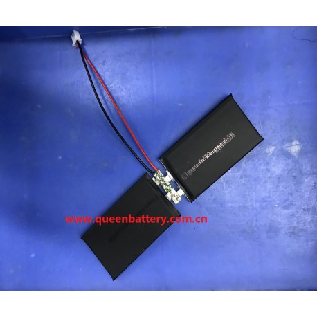 533970 LI-PO LI-POLYMER battery cell 3.7V 2100mAh 2s1p with PCB (2-4A)