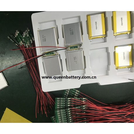 604854 7.4V li-po lipo battery pack 2s1p 1700mAh li-polymer with pcb(1-2A) with lead wires