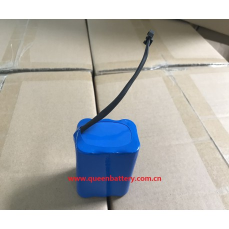 18650 2s3p 7.4v 7.2v QB18650 7800mAh with pcb(2-3A) with aircraft connector