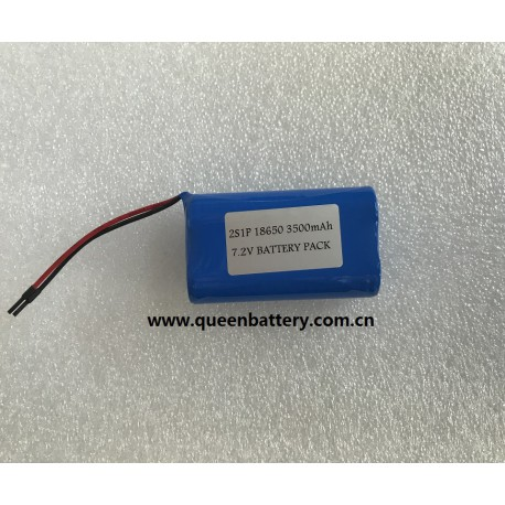 SANYO GA 18650GA NCR18650GA 2S1P BATTERY PACK 7.2V with pcb(1-2A)