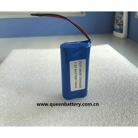 SAMSUG 18650 35E 3500maAh INR18650-35E 2S1P 7.2V with pcb(2-3A) battery pack with lead wires