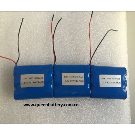 1s3p 18650 lg f1l INR18650F1L battery pack 3.7V 10200mah with pcb (5A-10A) with lead wires 22AWG