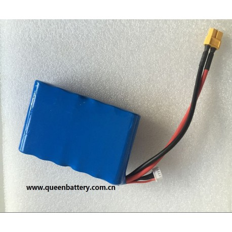 14.8V9AH 4S3P SONY VTC6 18650 BATTERY PACK WITH JACK balancer with XT60 for UAV plane/RC filght