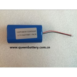 1s2p samsung 18650 5200mah 26jm battery pack with pcb(1.5A-2A) with connector(PHR-2P)