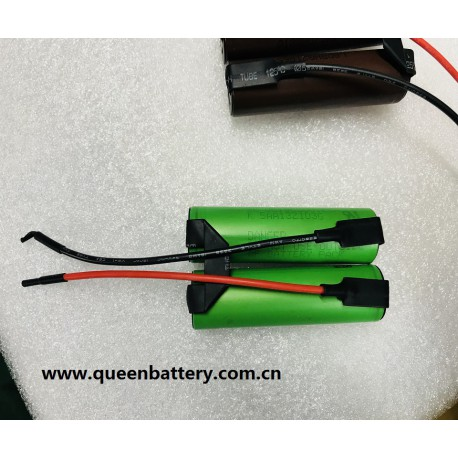2S1P 7.2V SONY VTC5A 2600mAh battery pack with 10cm 18AWG lead wires