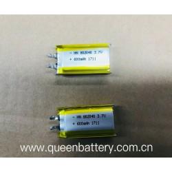 li-po 802040 li-polymer battery cell 600mah rechargeable cell 3.7V