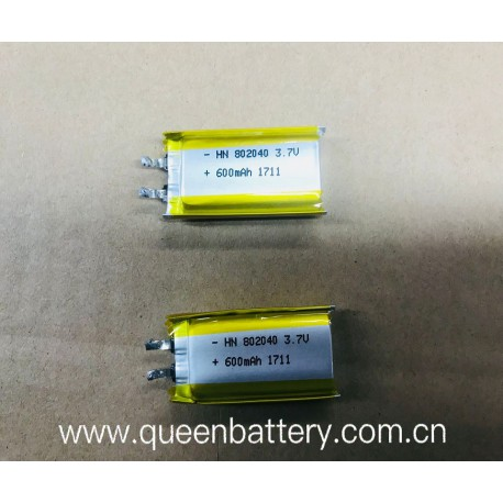li-po 802040 li-polymer battery cell 600mah rechargeable cell 3.7V