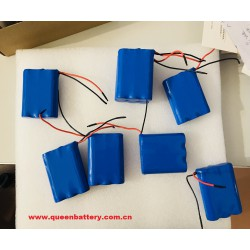 18650 3s1p 11.1v 3200mah battery pack with pcb with 22AWG wires