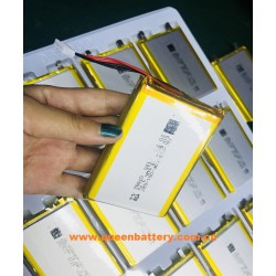 1S2P 606090 3.7V LI-PO LI-POLYMER BATTERY 10000mAh 10Ah with pcb(1-2A) with lead wire