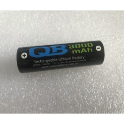 QB18650 3000mAh QB 18650 li-ion rechargeable  battery cell 3.7V