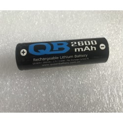 QB 18650 2600mAh li-ion battery cell 3.7V