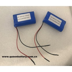 LG 18650 MJ1 1S2P li-ion battery pack 3.6v 3.7v 7000mAh with pcb(3.5A-8A)with 22AWG wires