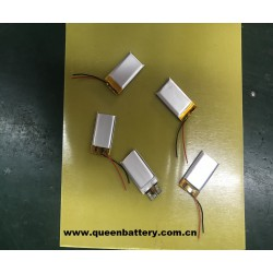 302040 li-polymer/li-po battery pack 180mAh 1s1p with pcb(1-2A) with lead wires