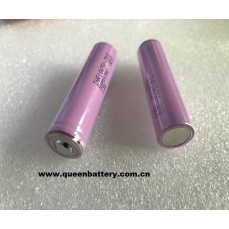 samsung 18650 3.7v 30q 3000mah with button top with protected