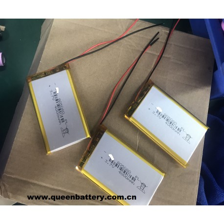 LI-PO LI-POLYMER 1S1P 805080 LI-PO BATTERY CELL 4000mAh 3.7V with pcb with lead wires