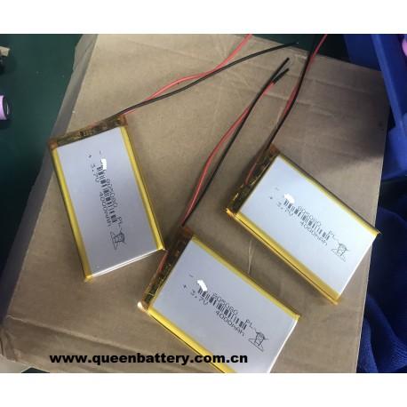 LI-PO LI-POLYMER 1S1P 805080 LI-PO BATTERY CELL 4000mAh 3.7V with pcb with lead wires