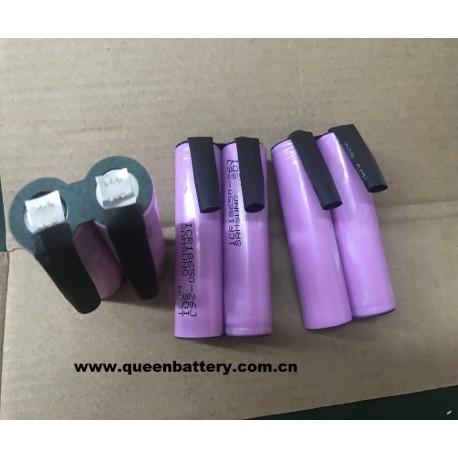 2s1p samsung 18650 ICR18650-26J 26jm 26fm 26j 7.4v 2600mah battery pack