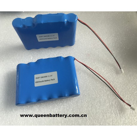 10.8V 11.1V  6800mAh 3S2P 18650B ncr18650b panasonic battery pack with pcb 3-6a with connector 2.54-2p