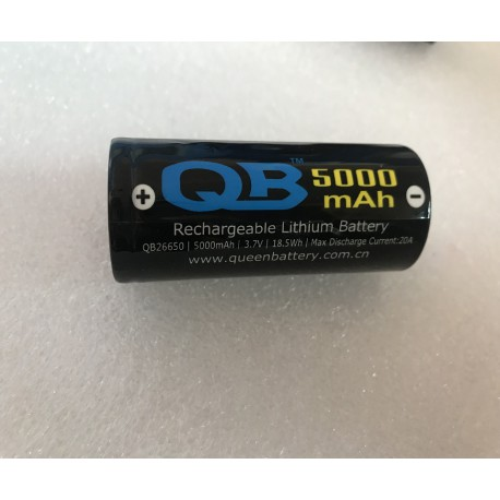 QB26650 INR26650 5000mAh 3.7V 20A battery cell