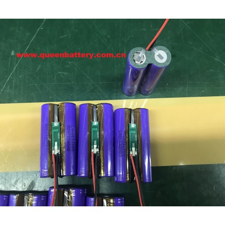 2S1P LG 18650 EL E1L ICR18650E1 battery pack 7.4V 3200mah with PCB(3-6A) with lead wires