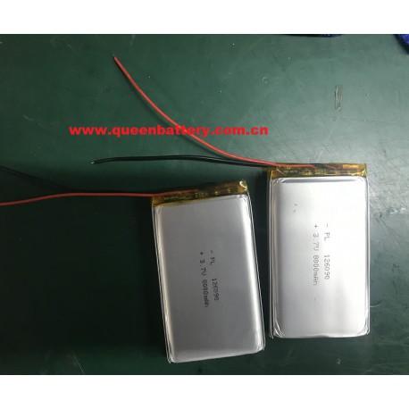 1S1P 126090 3.7V 8000mAh 8AH LI-PO LI-POLYMER BATTERY PACK WITH PCM/PCB (1.5A-2A) for digital camera