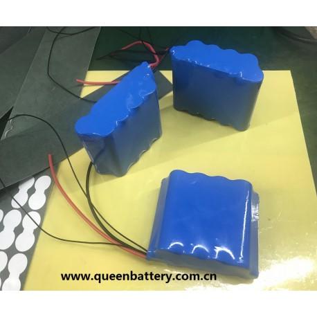 3s3p 11.1v 10.8v 18650 battery pack lg m26 7800mah with PCB (3-6A)