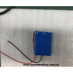 1s3p 18650 QB18650 2600mah battery pack with pcb 2A