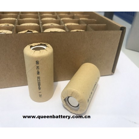 QB NI-MH sc SC2200mAh 1.2V battery cell 2200mah