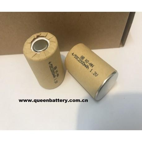 QB NI-MH 1.2V 4/5SC 2000mAh 4/5SC2200MAH battery cell